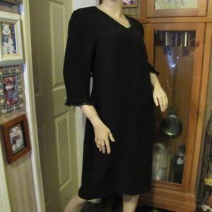 Talbots Black Vintage Dress size 16
